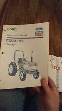 Operators Manual 1720 Ford New Holland Choice 1910 1120 1210 1310 2110