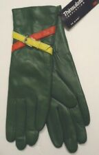 Ladies Genuine Leather Thinsulate Gloves,Green,Small