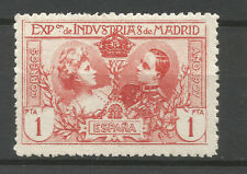 Spain/Madrid 1907 Industrial Exposition 1 Pta poster stamp/label (PERF 11)