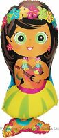 "34"" Giant Hula Girl Foil Helium Balloon Hawaiian Beach Birthday Party Decoration"