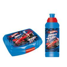 Hot Wheels Brotdose Lunchbox Trinkflasche Sportflasche Set 2 teilig