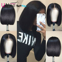 Short Lace Front Human Hair Wigs Brazilian Bob Wig For Women Pre Plucked 10 Inch