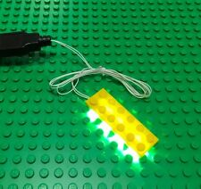 New 2x6 yellow led light brick for lego usb connected for lego custom