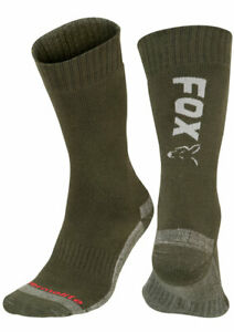 Fox Green Silver Thermolite Insulated Socks *All Sizes* NEW Carp Fishing Clothes
