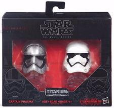 STAR Wars Nero Titanio SERIE DIE-CAST CASCO Captain Phasma & Stormtrooper