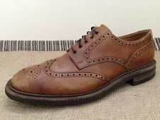 LOAKE 1880 Brown Leather Wingtip Brogue Oxford Dress Shoes 12 US UK 11 England
