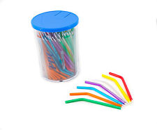 Dental Triple Syringe Disposable Safe Tips Points Nozzles Multicolored 125 Pcs