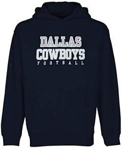 Dallas Cowboys Youth Boys Practice Pullover Hoody Sweatshirt - Navy