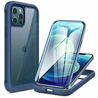 Glass Case for iPhone 12/12 Pro, Full Body 9H Tempered Glass, Dark Blue