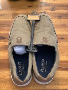RedHead Beige Canvas Dunham Moc Memory Foam Slip-On Shoes Men's Size US 11M