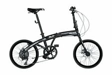 Hachiko HA-10 Alloy Folding Bike Shimano Gears 7 Speed - Matt Black