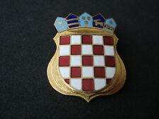 Croatia, field cap / beret badge; checky, insignia, Homeland war, military