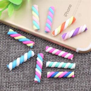 20X Kawaii Colorful Candy Food FIMO Polymer Clay Charms Craft Phone Decor Random