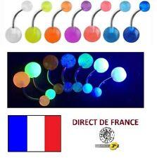 Lot de 7 piercings nombril Fluorescent Phosphorescent revendeur FRANCE bijoux