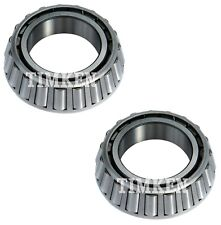 Pair Set 2 Front Outer Timken Wheel Bearings for Chevy Ford Freightliner 4 X 2