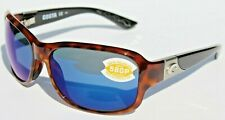 COSTA DEL MAR Inlet 580P POLARIZED Sunglasses Womens Tortoise/Blue Mirror NEW