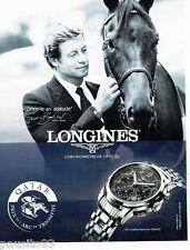 PUBLICITE ADVERTISING 106  2012  Longines montre Saint-Imier Simon Baker Qatar