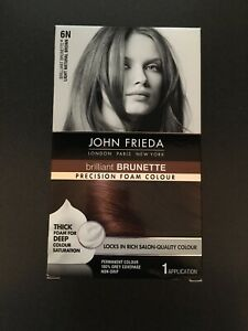 John Frieda Precision Foam Colour 6N Light Natural Brown ~ NEW Sealed