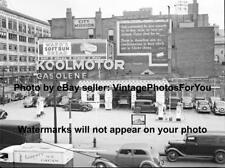 1937 Cleveland Gas Station Gospel Mission Ward's Bread Koolmotor Gasolene Photo
