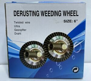 "Derusting Weeding Wheel 6"" Twisted Wire 1"" ARBOR HOLE FREE FAST SHIPPING"