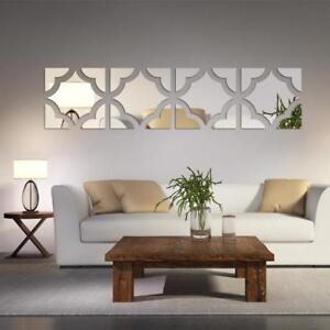 Mirror Wall Sticker Home Decoration Wall Decal Fashion Ornament Acrylic 3D
