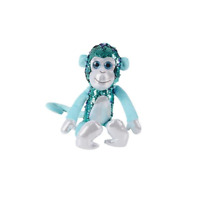 Adventure Planet Sequinimals Plush - MONKEY (Sequin - Purple & Teal) (15 inch)
