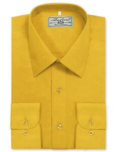 Boltini Italy Men's Long Sleeve Solid Barrel Cuff Dress Shirt