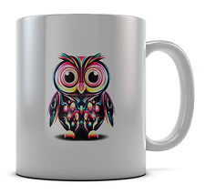 Cute Owl Design Mug Cup Present Gift Coffee Birthday