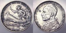 5 LIRE 1940 PIO XII STATO PONTIFICIO PAPAL STATE BB+ VF+ #1789