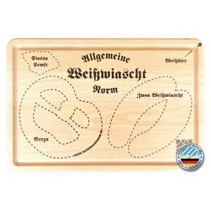 bayrisches brotzeitbrett schneidebrett weisswurst weiswurscht, die geschenkidee
