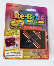 Lite-Brite Keychain Fun 4 All * Rare * NEW