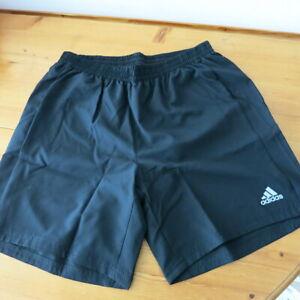 "Mens Adidas Black ""Run It"" Aeroready Shorts - Large"
