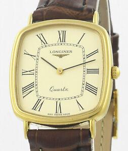 Gold LONGINES Quartz Presence Vintage Mens Wrist Watch In Original Box