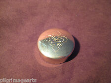 Ted Cash Brass Cap Box or pill box with fleur de lis, Muzzleloading Made in USA