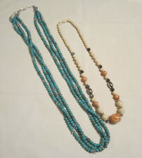 2 necklaces, Turquoise and Desert Sands Vintage Avon lot - new -