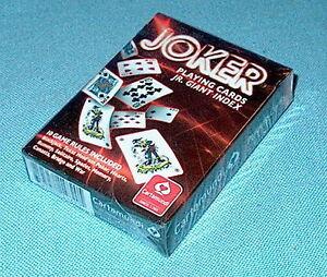 F'Sld! U.S. Cartamundi JOKER PLAYING CARDS Jr. Giant Index Poker Size