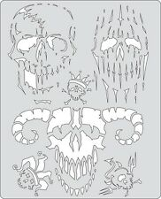 Artool Iwata Craig Fraser Curse of SkullMaster Airbrush Paint Stencil Evil Horde