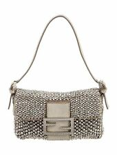 FENDI Mini Beaded Embellished Baguette Bag