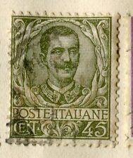 L'Italia; Early 1900s Emmanuel EMISSIONE USATO 45c. valore,