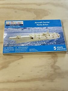Creatology Wooden Puzzle Aircraft Carrier 5 Sheets