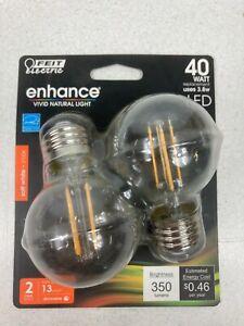 FEIT Electric 40 watts G165 LED Bulb 350 lumens Soft White Globe 40 Watt