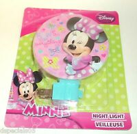 DISNEY MINNIE Night Light NIP 8-02