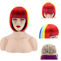 Halloween Women Bob Short Straight Hair Wig Synthetic Full Wig Cosplay Party