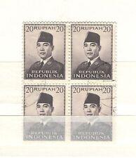 Q7526 - INDONESIA - 1953 - QUARTINA * SUKARNO N°69 - VEDI FOTO