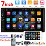 """7"""" Double 2 DIN Car Stereo Radio MP5 Bluetooth Touch Screen USB AUX Camera HOT"""