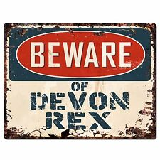Pp1559 Beware of Devon Rex Plate Rustic Chic Sign Home Store Decor Gift