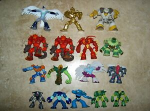 Gormiti Game Figures Toys x 16 In Total 1.5-2.5 inches 4-7cm Tall USED