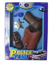 DIECAST 45 MAGNUM PISTOL GUN SET W METAL SHERIFF BADGE & HOISTER boys toy sets
