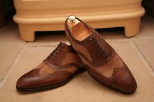 Barker Men's Made In England Tan Leather Suede Specator Two Tone Shoes UK 9