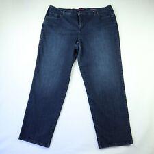 Gloria Vanderbilt Amanda Blue Denim Straight Jeans Women's Size 20  41W 29L